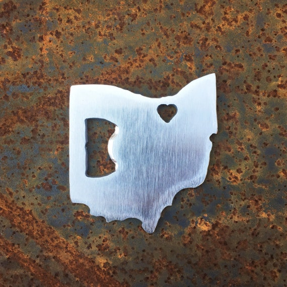 Ohio Bottle Opener | Stocking Stuffer | Novelty Gift | Ohio Gift