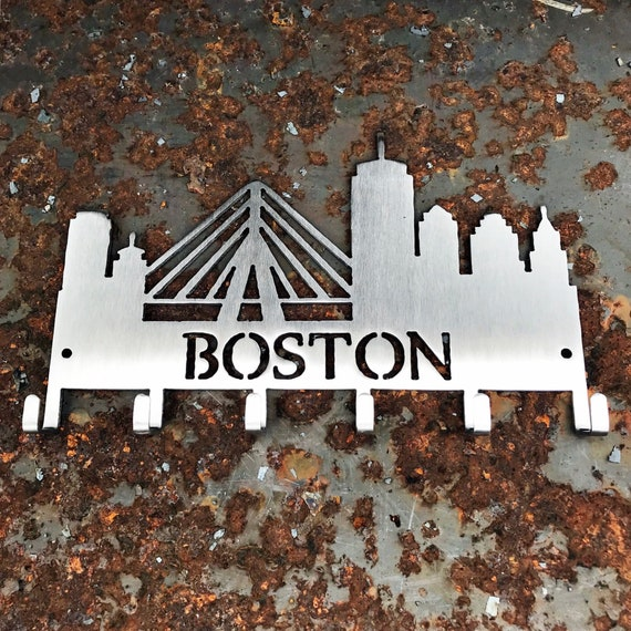 Boston Skyline Key Hooks | Unique Boston Gift | Stocking Stuffer | Novelty Boston Gift | Stainless Steel Key Hooks | Unique Key Hooks