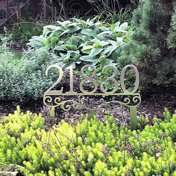 Address Stakes | Stainless Steel Address | Lawn Address Sign | Stainless Steel Address Marker