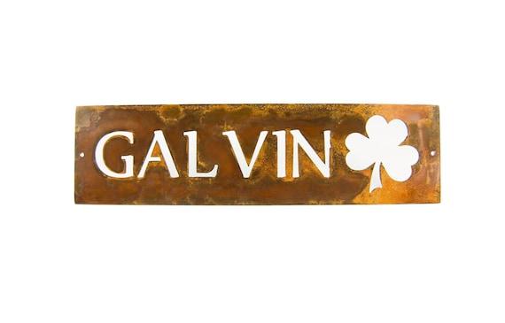 Name Plate | Rustic Wedding Gift | Custom Metal Sign | Metal Name Plaque | Outdoor Decor | Last Name Sign | Housewarming GIft