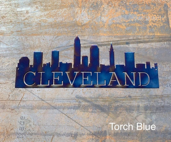 Metal Cleveland Skyline | Cleveland Art | Cleveland Gift | Housewarming Gift | Metal Skyline | Made In Ohio |  Metal Skyline | Steel Art