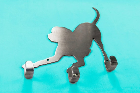 Dog Leash Holder | Leash Hanger | Leash Hooks | Dog Decor | Pet Supplies | Gift for Dog Owner | Labrador Retriever | Pit Bull
