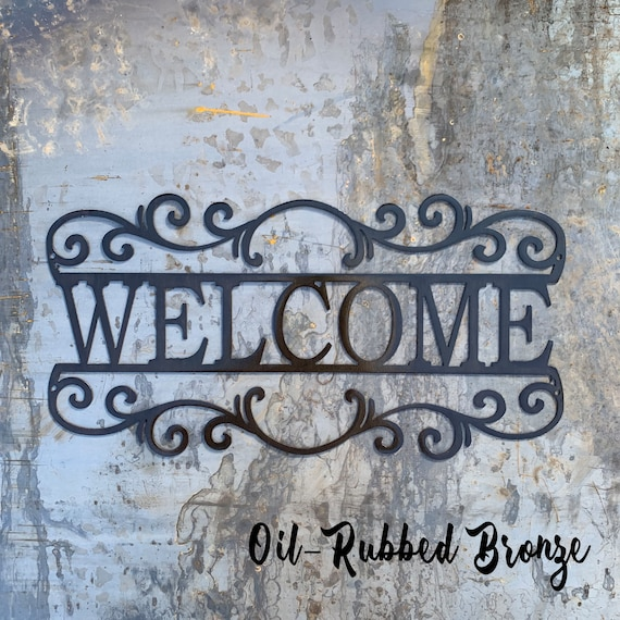 Welcome Sign | Metal Sign | Housewarming Gift | Unique Gift | Metal Welcome Sign | Outdoor sign | Hostess Gift