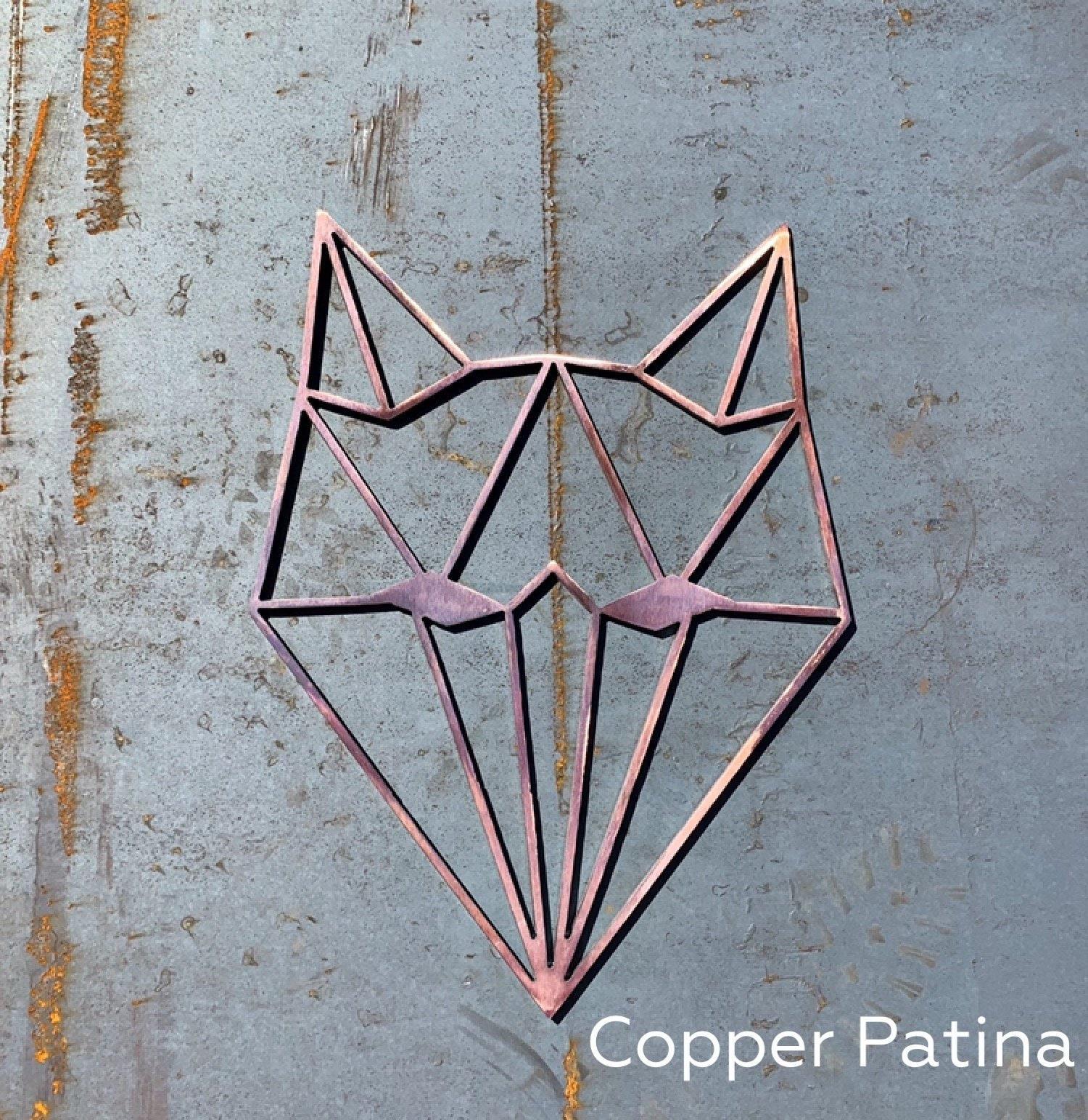 Geometric Animals Metal Wall Art Geometric Wolf Geometric
