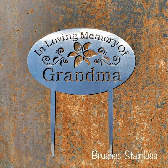 Garden Sign with Stakes | Metal Memorial Plaque | Pet Memorial | In Loving Memory Garden Sign | Outdoor Memorial Sign | Religious Memorial