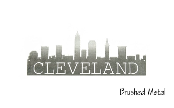 Cleveland Skyline | Cleveland Art | Cleveland Gift | Housewarming Gift | Metal Skyline | Made In Ohio |  Metal Skyline | Steel Art