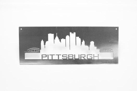 Pittsburgh Skyline out of Stainless Steel