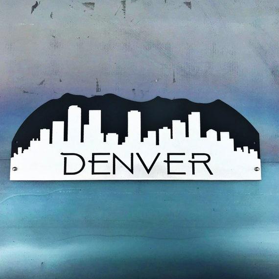 Denver Skyline | Metal Denver Skyline | Denver Wall Hanging | Denver Art