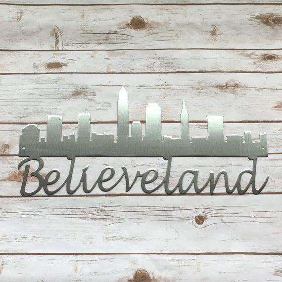 Believeland Cleveland Skyline