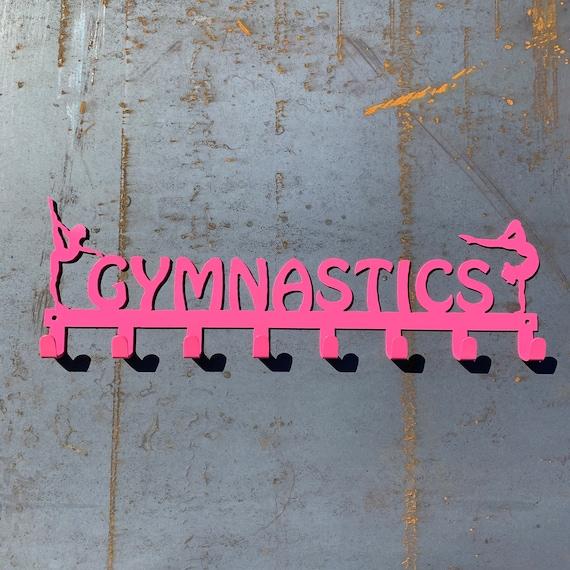 Gymnastics Medal Display | Personalized Gymnastics Medal Hooks | Gift for Gymnast | Gymnastics Accessories | Custom Gymnastics GIft