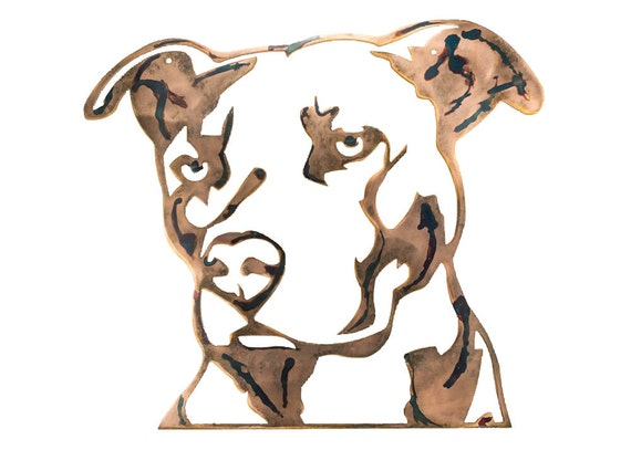 Pit Bull | Metal Wall Art | Gift for Dog Owner | Dog Memorial |  Housewarming Gift | Birthday Present | Puppy