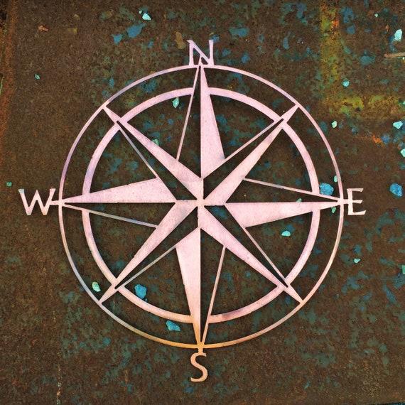 Nautical Compass | Metal Compass | Nautical Decor | Beach House Decor | Copper Patina | Ocean Decor | Lake House Decor