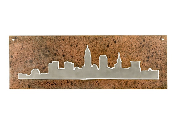 Cleveland Skyline | Cleveland Metal Wall Art | Housewarming Gift | Made In Ohio | Cleveland Birthday Gift