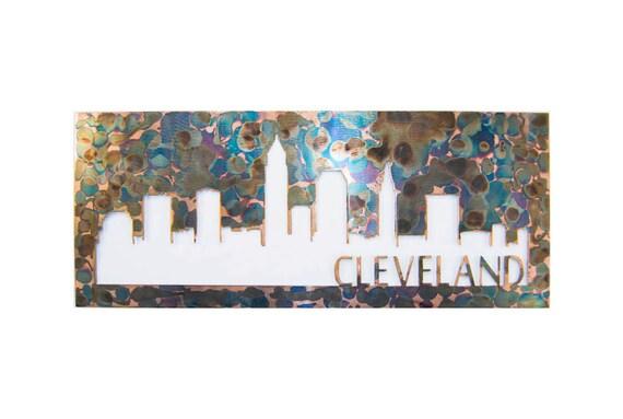 Cleveland Skyline | Cleveland Art | Cleveland Gift | Housewarming Gift | Metal Skyline | Made In Ohio |  Metal Skyline | Steel Art