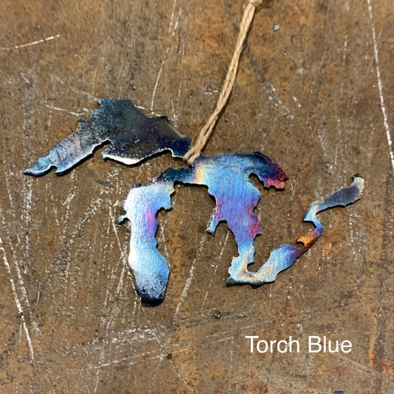 Great Lakes Christmas Ornament | Michigan Christmas Ornament | Great Lakes Metal Art