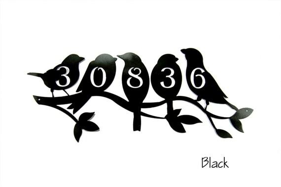 Perched Birds Address Sign | Metal Birds Home Address Sign | Custom Address Sign | Metal House Number