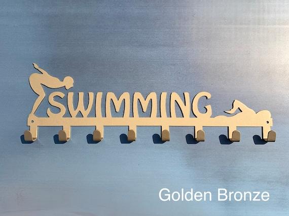 Swim Medal Display Hooks | Metal Swim Display Hooks | Gift for Swimmer