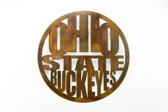 Ohio State Buckeyes Wall Art | | Ohio Decor | Ohio State Football | Ohio State Grad Gift  | Ohio State Man Cave
