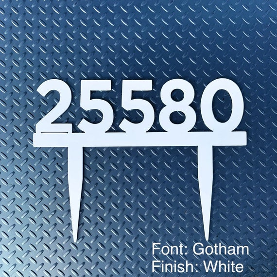 Stainless Steel Address Sign with Stakes | Custom Address Sign | Yard Address Sign