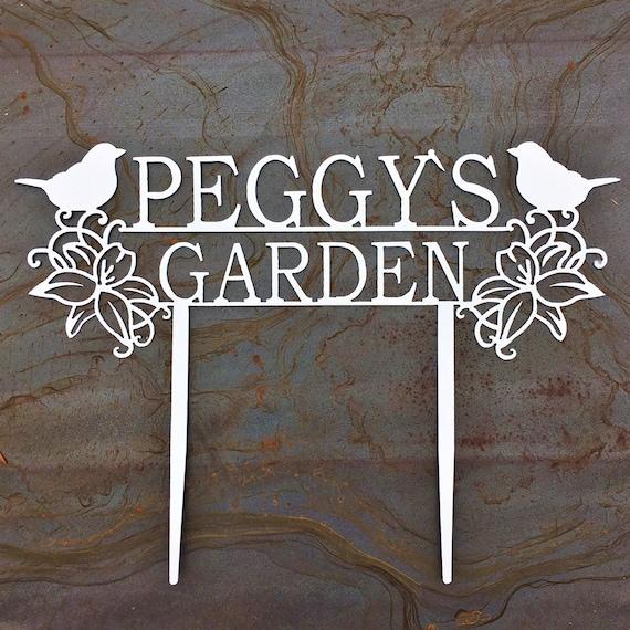 Custom Metal Garden Stakes | Custom Garden Sign | Memorial Garden Sign | Garden Art | Gift For Mom | Gift For Grandma