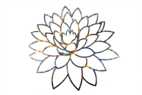 Lotus Flower | Metal Lotus Flower | Lotus Wall Art | Gift For Yogi | Yoga Art | Lotus Art