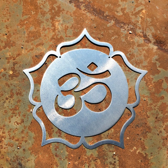 Om Lotus Metal Wall Hanging