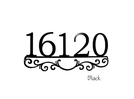 Custom Address Sign | Metal Address Sign | Address Sign with Scroll-work | Metal House Numbers | Custom Outdoor decor