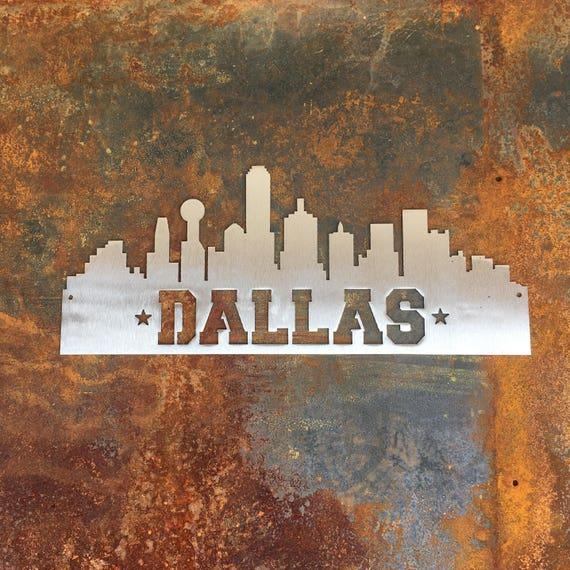 Dallas Skyline- Metal