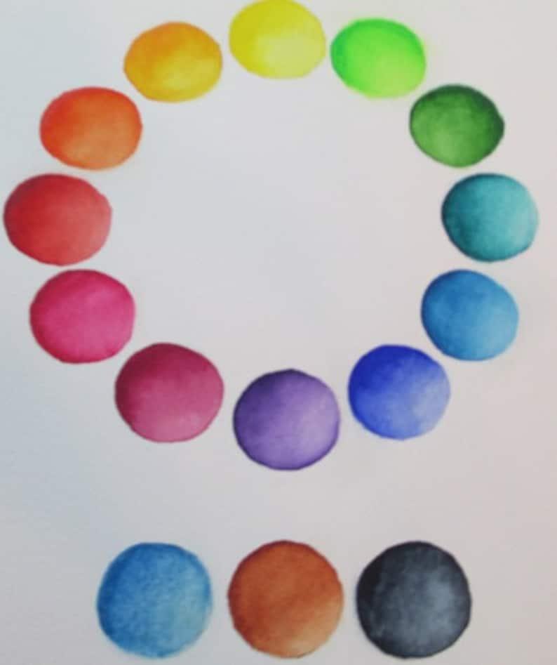 Mini DRAGON WATERCOLOR PALETTE ~ collectible tin ~artist-grade paints~full color spectrum~compact~portable~ travel sketch ~altoids-style tin