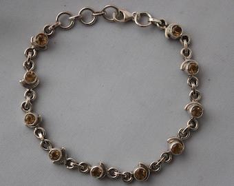 Detailed Citrine Bracelet set in sterling silver