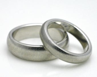 Attractive handmade partner rings/wedding bands made of 925 silver