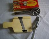 Vintage Set of 3 kitchen utensils, grater, chisel, herbs, egg Cup, rustic kitchen utensils.