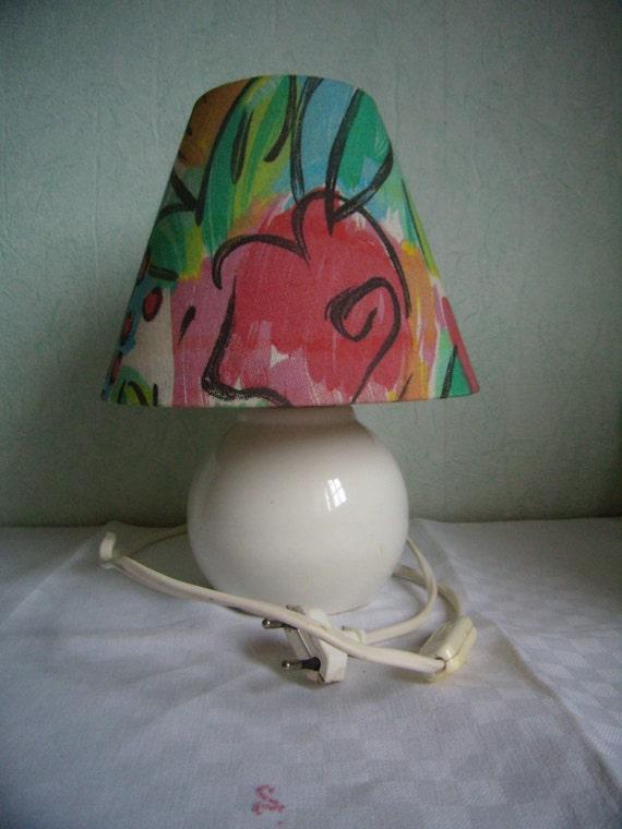 lampe de chevet lampe de table pied de lampe boule blanche etsy. Black Bedroom Furniture Sets. Home Design Ideas