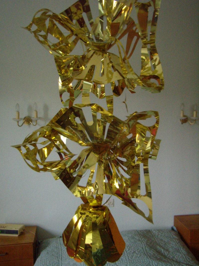 leaflet shiny suspended foldout gold leaf gilded decoration Festive decoration sheets vintage