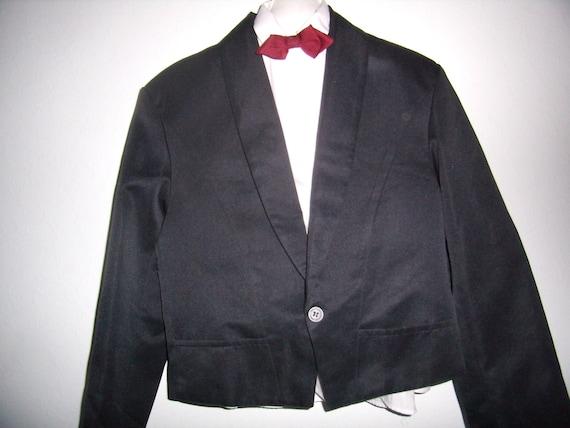 wedding jacket Vintage french black Spencer men Jacket ceremony