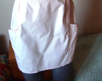 Vintage French homemade retro apron