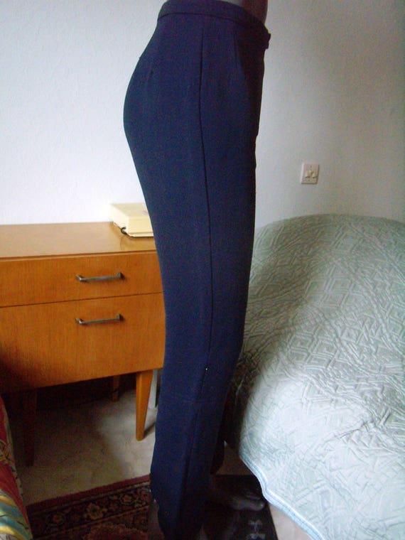60s retro ski pants, ski stirrup women's size 40s,