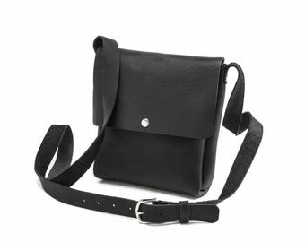 Small Crossbody - Black Kodiak Leather