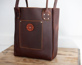 Large Tote - Brown Kodiak Leather