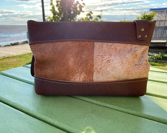 Small Crossbody with Zipper - Vintage Leather with Oil Tanned Leather