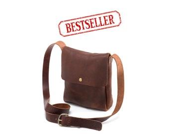 Small Crossbody - Brown Kodiak Leather