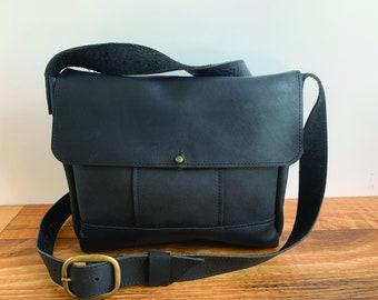 One Of A Kind Medium Crossbody -  Black Leather