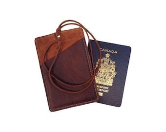 Passport Holder - Brown Kodiak Leather