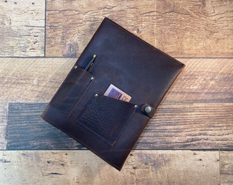 Heavy Duty Kodiak Leather Journal Cover