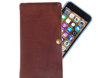 Phone Case - Brown Kodiak Leather