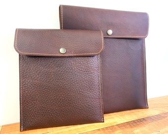 Tablet Sleeve - Brown Kodiak Leather