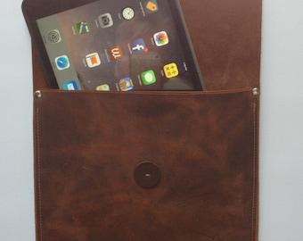 Tablet Sleeve - Brown Kodiak Leather