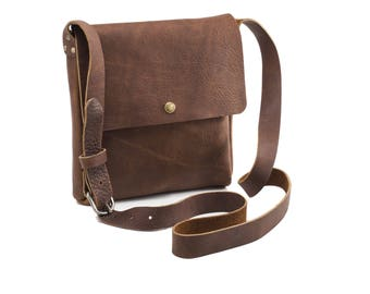 Small Crossbody - Caramel Kodiak Leather