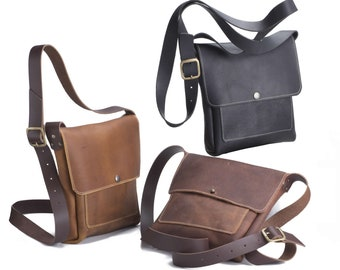 Small Crossbody with Front Pocket - Kodiak Leather