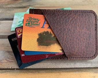 Money Clip - Brown Kodiak Leather